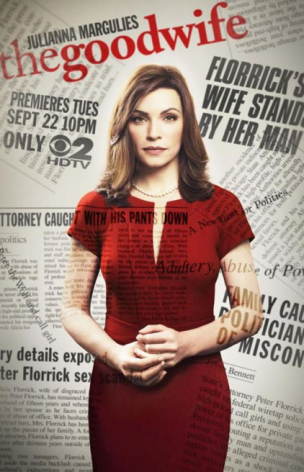 Julianna Margulies red dress