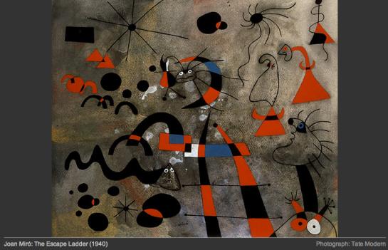 Joan Miro The Escape Ladder