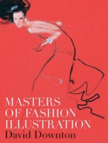 Masters of Fashion Illustration David Downton Woman Red Dress