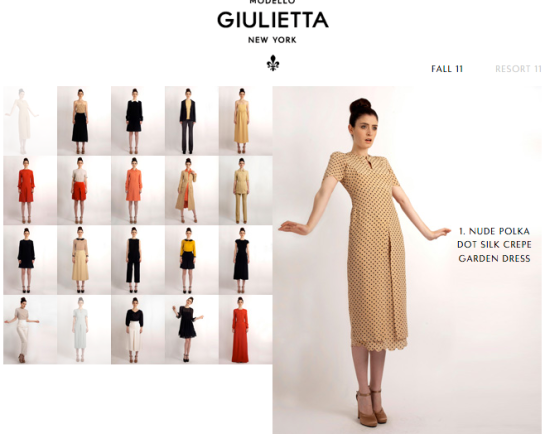 Giulietta Collection Fall 11
