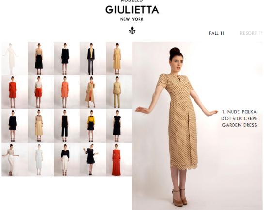 Giulietta Collection Fall 11