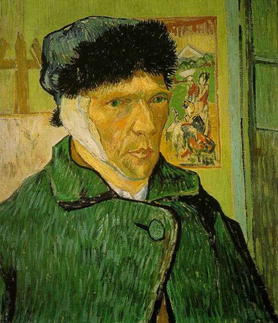 Self-Portrait with Bandaged Ear - Van Gogh - 1889