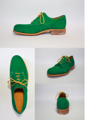 Samuel Way London College Fashion Green Shoes