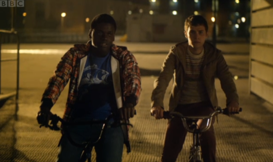 The Fades - Mac and Paul on bicycles