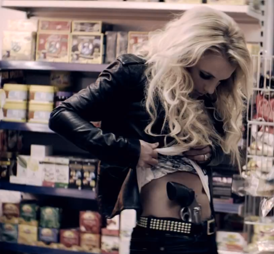 Britney Spears Criminal - Gun still
