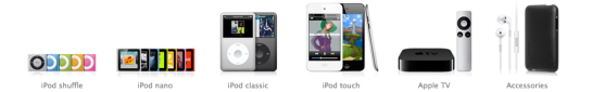 iPods - all shapes and sizes