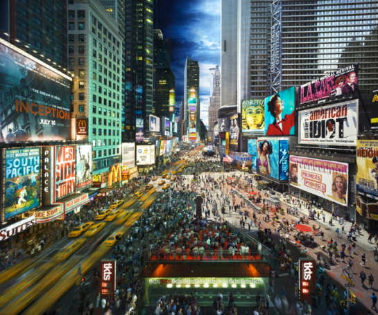 Day to Night, Times Square by Stephen Wilkes (USA)