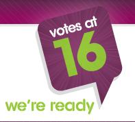 Vote at 16 Logo