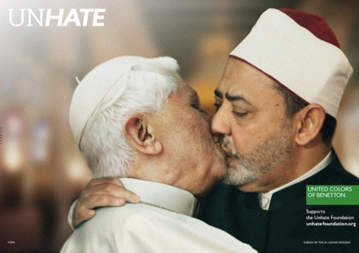Benetton Unhate Campaign Pope and Imam