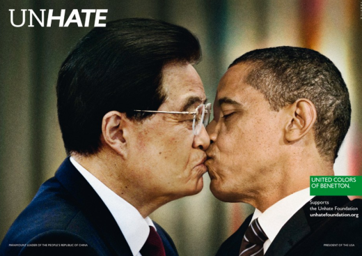Benetton Unhate Campaign China USA