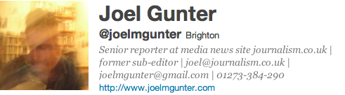 Joel Gunter Journalist UK Twitter
