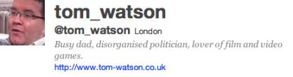 Twitter Tom Watson