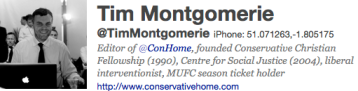 Tim Montgomerie Twitter Account