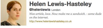 Helen Lewis-Hasteley Twitter