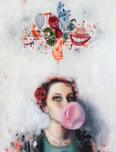 Vanessa Dakinsky oil on canvas self