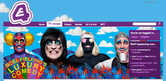 Noel Fielding's Luxury Comedy E4 Logo