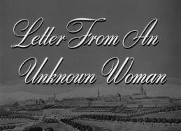 Letter from An UnknownWoman