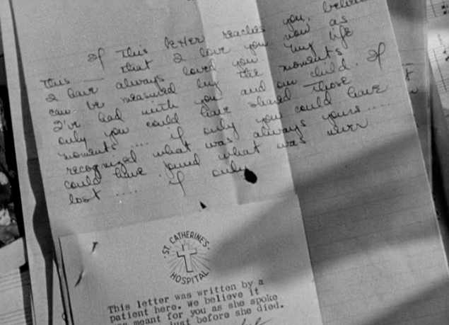 The final page of the letter from the unknown woman