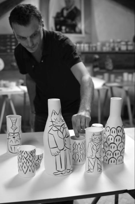 Inspecting his work Séverin Millet