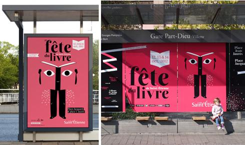 Fête du livre de Sainte Étienne Bus Stop
