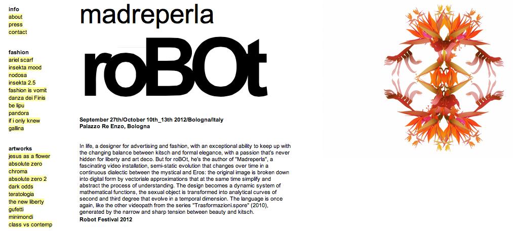 Cristian Grossi website screenshot roBOt